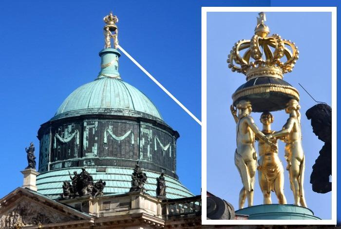 Скульптура на главном куполе