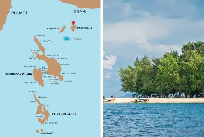 Бамбуковый остров на карте
