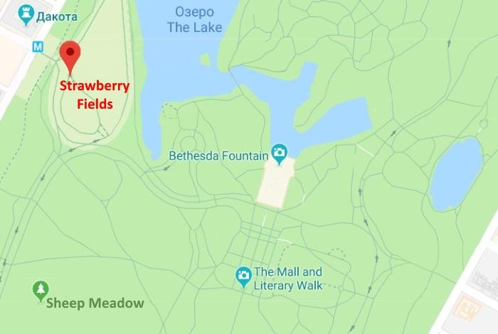 Strawberry Fields на карте