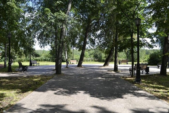 Сад Ермака в Тобольске