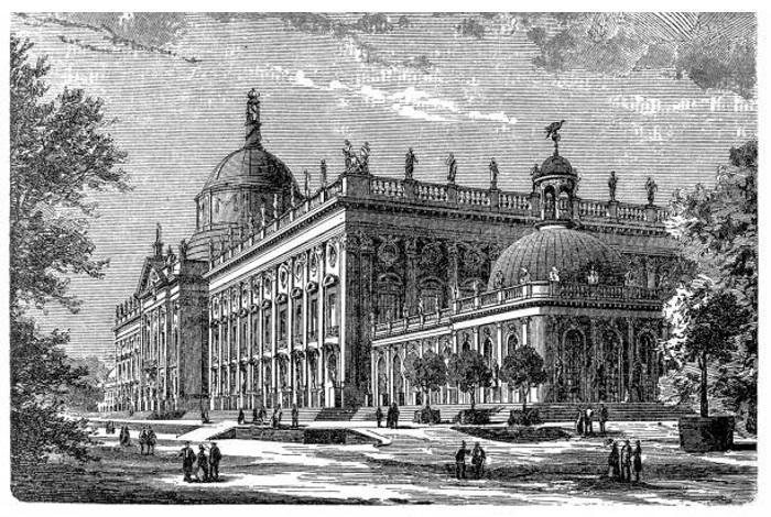 Гравюра Новый дворец