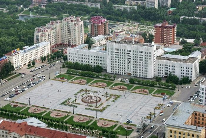 Площадь имени Ленина в Хабаровске