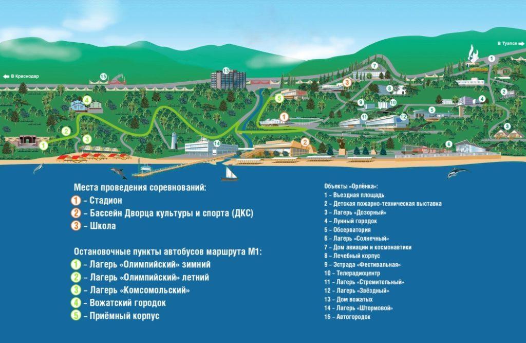 Карта Орленка