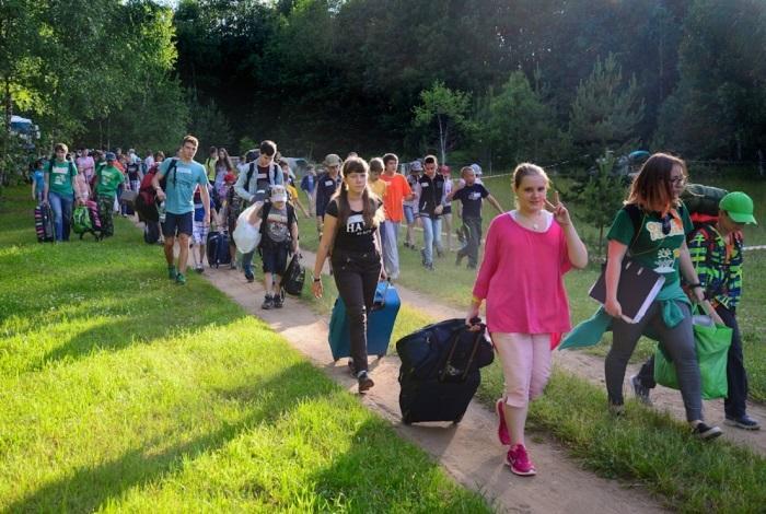 Прибытие в лагерь