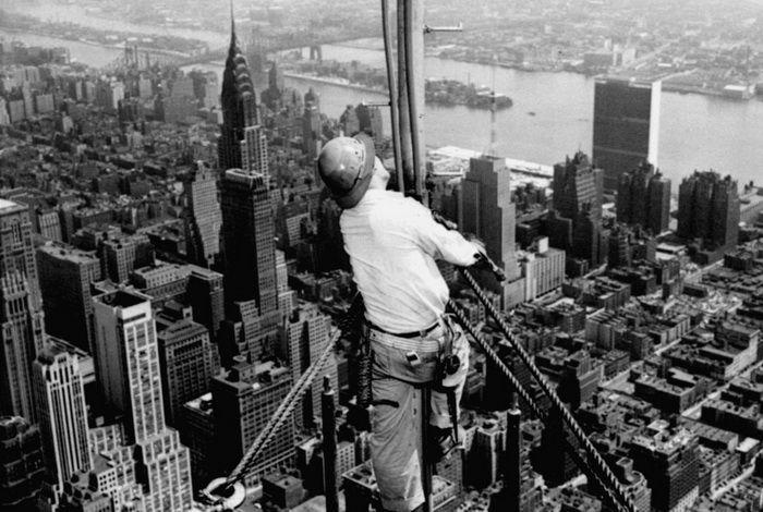 Строительство небоскребов Эмпайр-Стейт-Билдинг