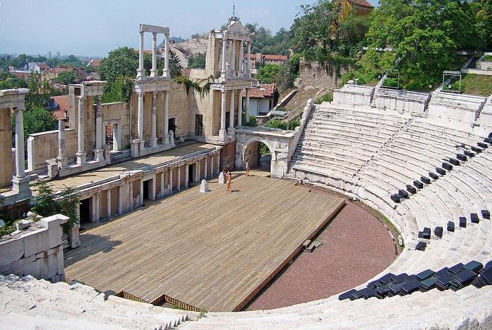 Римский амфитеатр в Пловдиве