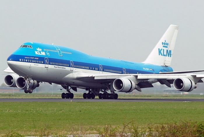 Сине-голубая раскраска KLM