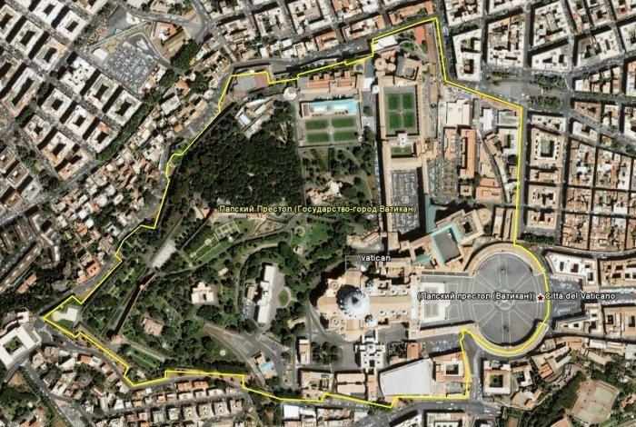 Границы Ватикана