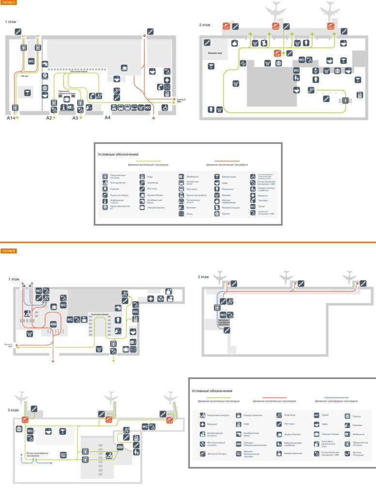 Схема аэропорта Толмачёво