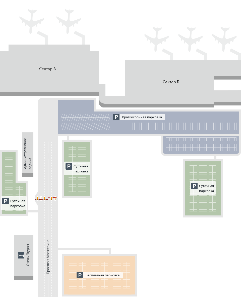 Карта аэропорта Толмачево