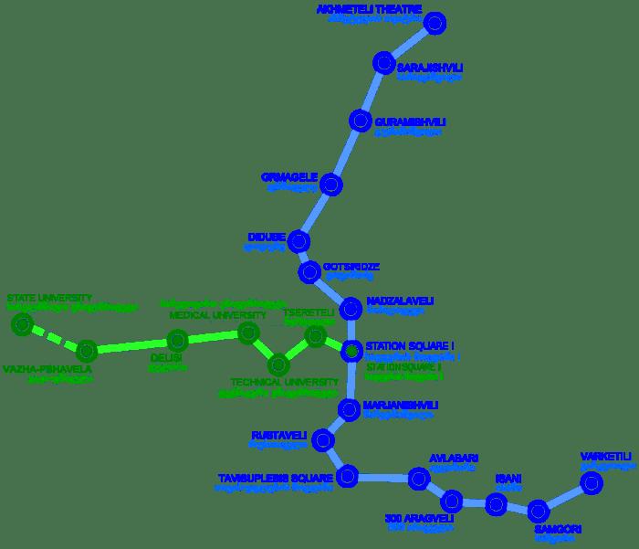 карта метро в Тбилиси